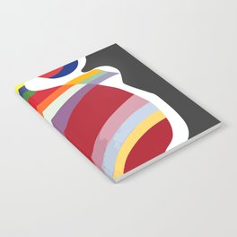 Wassily Kandinsky La Forme Rouge 1938, Artwork Reproduction, Design for Posters, Prints, Tshirts, Men, Women, Kids, Youth Notebook