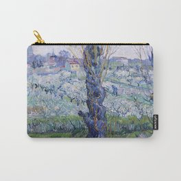 Vincent Van Gogh - Orchard in Bloom with Poplars Carry-All Pouch
