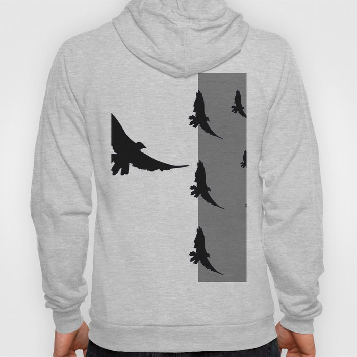 FLYING BLACK CROWS GREY-BLACK ART Hoody