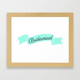 Mint Bridesmaid Framed Art Print