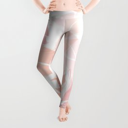 Pink Banana Leaves Leggings