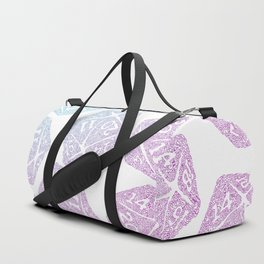d20 pattern dice gradient pastel Duffle Bag
