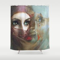 andreas preis Shower Curtains featuring Queen of the desert by Ganech joe