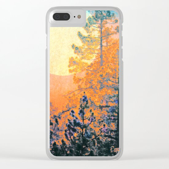 Sunrise Forest Clear iPhone Case