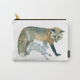 Fox and Hare Carry-All Pouch
