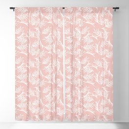 Tropical leaves pink Blackout Curtain