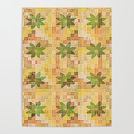 Retro Country Floral Wallpaper Poster