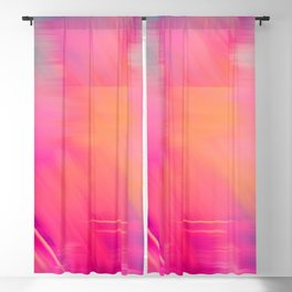 Modern abstract fuchsia violet coral brushstrokes Blackout Curtain