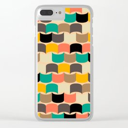 Retro abstract pattern Clear iPhone Case