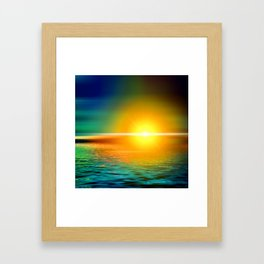 Hot Sea Framed Art Print
