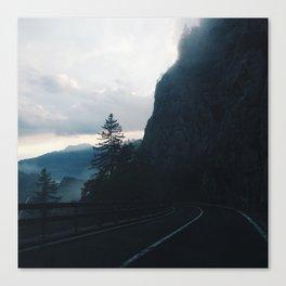 A Drive Through the Swiss Alps Canvas Print