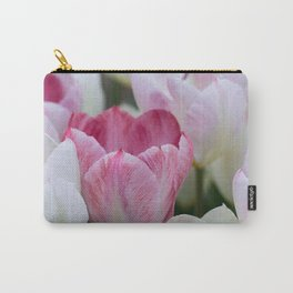 Tulips In White And Pink Carry-All Pouch
