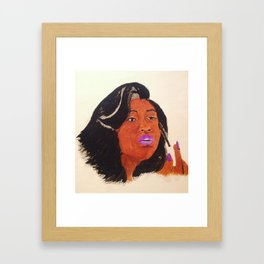 Jazmine Sullivan Framed Art Print