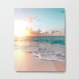 Tropical Sunset Beach, Sunset Photo Metal Print