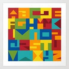 HERUFI - Colli13 alphabet v3 Art Print