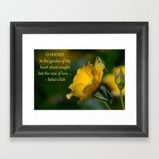 In The Garden Of Thy Heart Framed Art Print