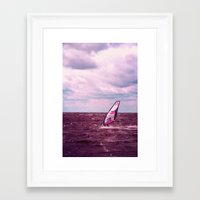 surfer Framed Art Prints featuring surfer by Claudia Drossert