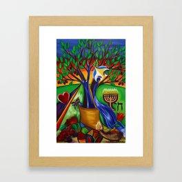 """TREE OF LIFE """"ETZ CHAIM"""" Framed Art Print"""