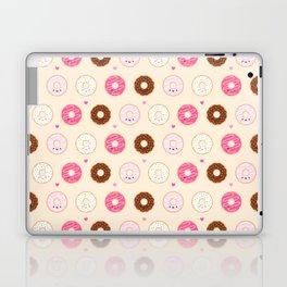 Cute Little Donuts on Cream Laptop & iPad Skin