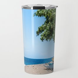 A Bend in the Beach Travel Mug