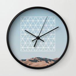 Polychrome Geometric Landscape Wall Clock
