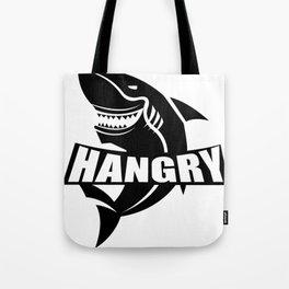 Hangry Shark Funny Tote Bag