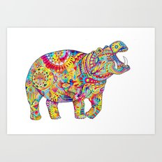 Hippo: Spirit of Confidence Art Print