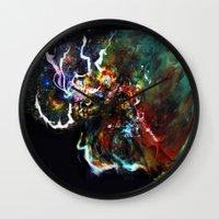 thor Wall Clocks featuring Thor by ururuty