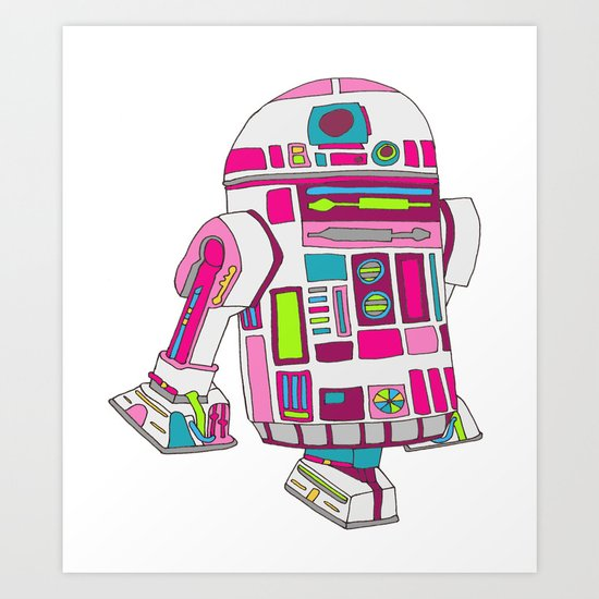 Cool Girls Like Epic Droids Art Print