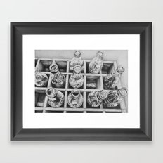 antique bottles Framed Art Print