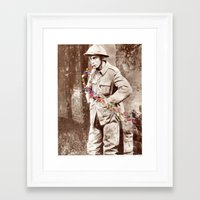 soldier Framed Art Prints featuring Soldier by Ben Giles