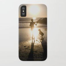 Man and His Best Friend Slim Case iPhone X