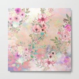 Botanical Fragrances in Blush Cloud Metal Print