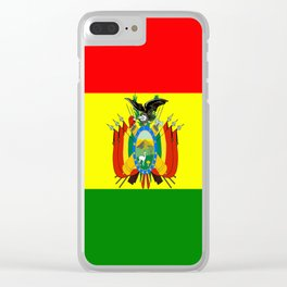 Flag of Bolivia Clear iPhone Case