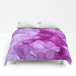 Abstract alcohol ink art painting Comforters