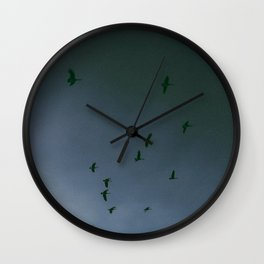 Birds and bats. Wall Clock