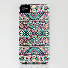 Pink Turquoise Girly Aztec Andes Tribal Pattern Slim Case iPhone (4, 4s)