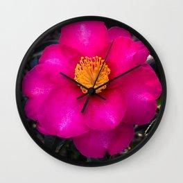 LA Pink Garden Flower Wall Clock