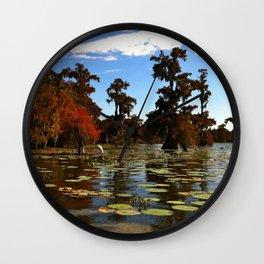 Lake Martin  Cypress Swamp - Breaux Bridge LA Wall Clock