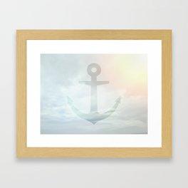 Anchor Sky Framed Art Print