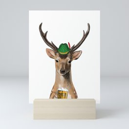 German Oktoberfest Bavarian Deer Gift Idea  Mini Art Print