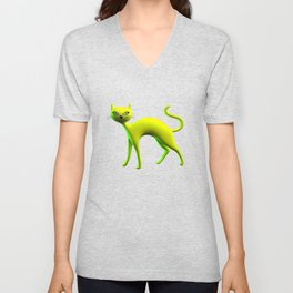 The Yellow Cat By THE-LEMON-WATCH Unisex V-Neck