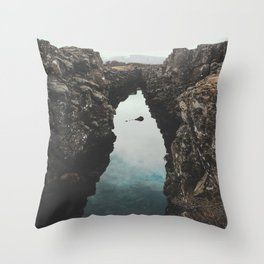 I left my heart in Iceland - landscape photography Throw Pillow