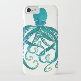 Octopus Watercolor iPhone Case