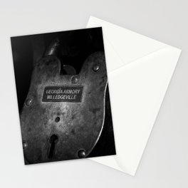 Rusty Lock in BW Stationery Cards
