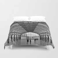hamburger Duvet Covers featuring Hamburger Bahnhof by Gabrielle Simon