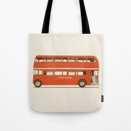 Double-Decker London Bus Tote Bag