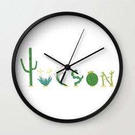 Tucson Cacti Letters Wall Clock