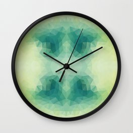 Mozaic design in soft green colors Wall Clock
