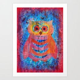 Papercut Owl Art Print